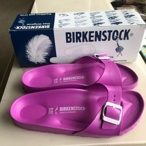 New! Birkenstock Madrid EVA Pink Sandals 8